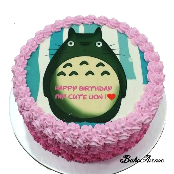 Totoro icing image Ombre Cake