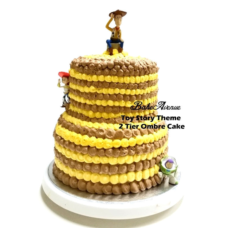 Toy Story 2 tiers Ombre Cake
