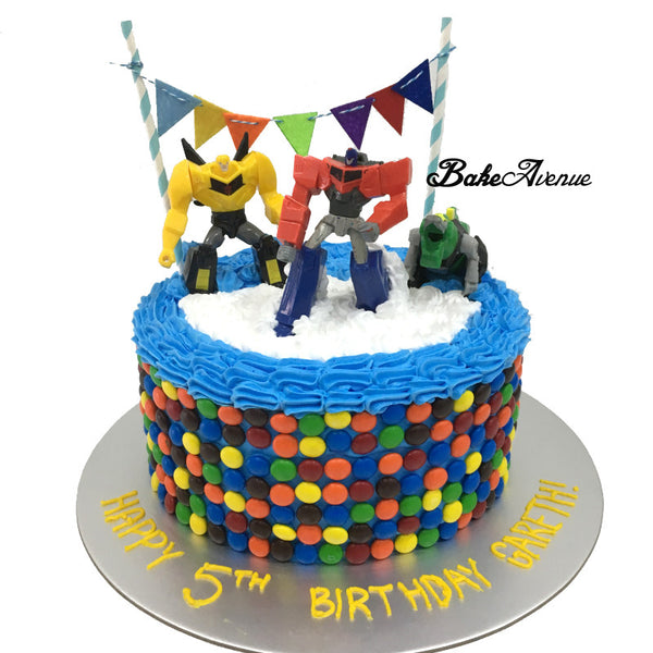 Transformer M&M Chocolate Cake