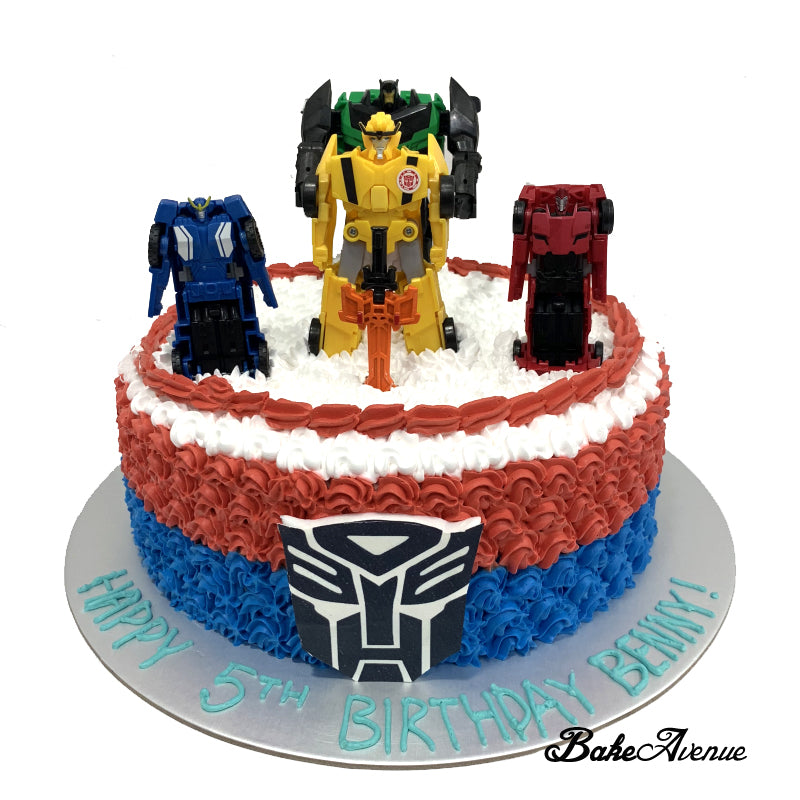 Outstanding Transformer Ombre Cake With Toppers Optimus Prime Bakeavenue Personalised Birthday Cards Paralily Jamesorg