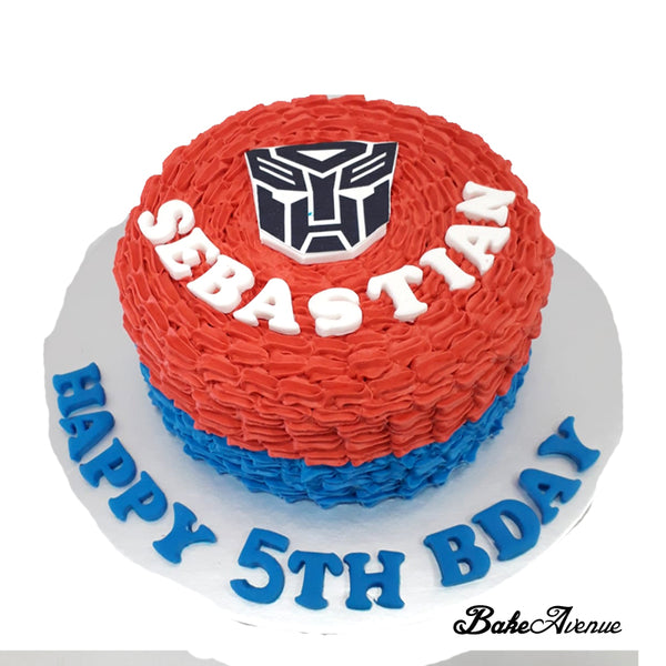 Transformer Ombre Cake with Logo