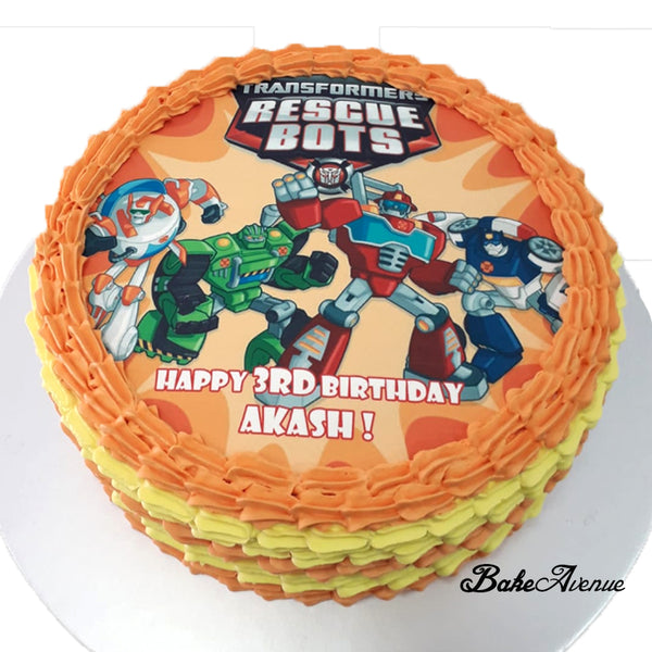 Transformer Rescue Bots icing image Ombre Cake