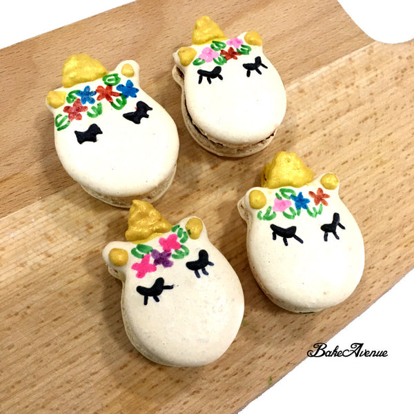 Unicorn Macarons (with gold horn)