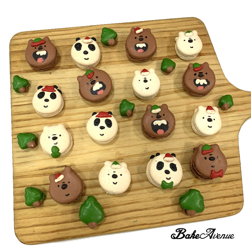 We Bare Bears (Christmas) Macarons – BakeAvenue