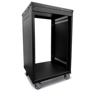 AxcessAbles RK16U 16-Space Rolling A/V Rack