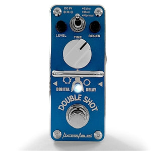 AxcessAbles DOUBLE SHOT Digital Delay Guitar Pedal - Delay / Echo / Repeat / Slap-Back
