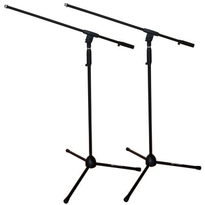 AxcessAbles MS-101 Microphone Stand with Boom Arm (2-Pack)