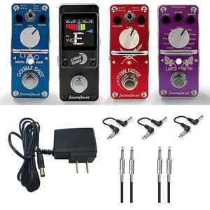 AxcessAbles Guitar Effects Pedal Ultimate Bundle with Cables and Power Supply