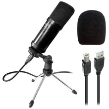 AxcessAbles MX-715 USB Studio Condenser Microphone- Ideal for Podcasting & Broadcasting