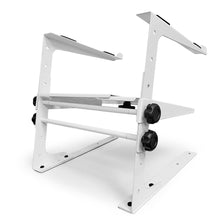 AxcessAbles LTS-03 Two-Tier Laptop Stand with Adjustable Height/Width and Optional Table Clamps (White)