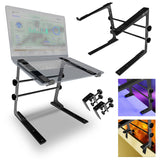 AxcessAbles LTS-02 Laptop Stand with Adjustable Height/Width and Optional Table Clamps  (Black)