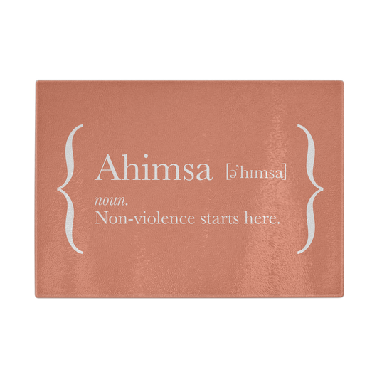 Ahimsa Chopping Board (Orange)