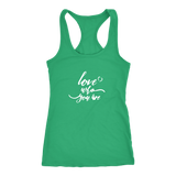 Love Who You Are Racerback Tank