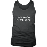 I think, therefore I'm VEGAN Mens Tank