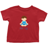 Mini Yogi Boy Lotus (Blue) Toddler T-Shirt