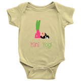 Mini Yogi Girl Shoulderstand Onesie