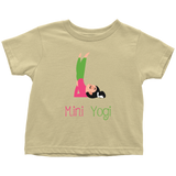 Mini Yogi Girl Shoulderstand Toddler T-Shirt