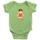 Mini Yogi Boy Lotus (Red) Onesie