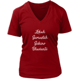 Lokah Samastah Ladies V Neck
