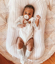 Load image into Gallery viewer, White Lace Baby Romper