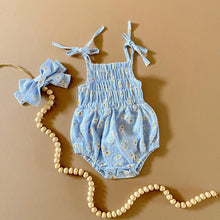 Load image into Gallery viewer, Daisy Romper Set, Blue