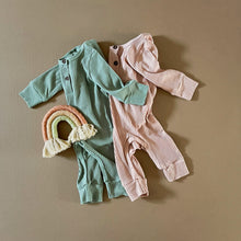 Load image into Gallery viewer, Ribbed Baby Jumpsuit in Mint