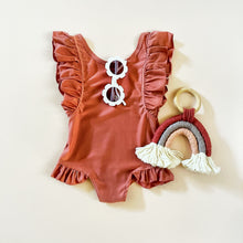 "Load image into Gallery viewer, ""Lotus"" Ruffle Swimsuit"