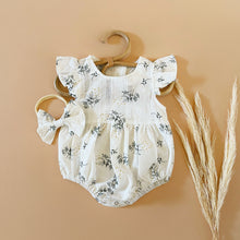 Load image into Gallery viewer, Short Sleeve Floral Romper Set