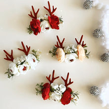 Load image into Gallery viewer, Floral Reindeer Headband
