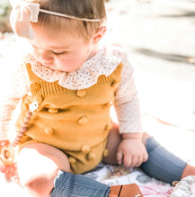 Load image into Gallery viewer, Pompom Knit Romper, Marigold
