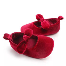 Load image into Gallery viewer, Velvet Shoes & Bow