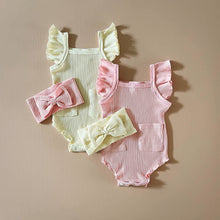Load image into Gallery viewer, Ruffled Bodysuit Set, Pink