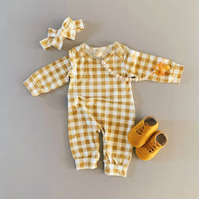 Load image into Gallery viewer, Gingham Jumpsuit Set
