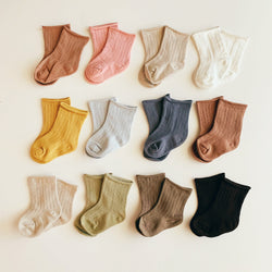 Pastel Ribbed Socks