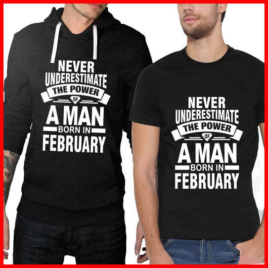 February Man T-shirt and Hoodie pack