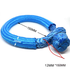 14mm*150mm UHMWPE Fiber Braided Soft Shackle