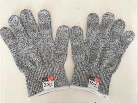 1 Pair of NoCry Cut Resistant Gloves with Grip Dots-Level 5