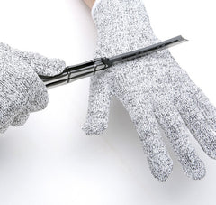 1 Pair of NoCry Cut Resistant Gloves with Grip Dots - High Performance Level 5 Protection, Food Grade. Size Extra Large