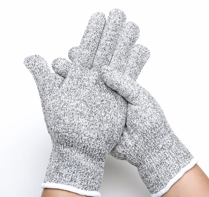 1 Pair of  Cut Resistant Gloves with Grip Dots-Level 5 Protection, Food Grade.Size Extra Large