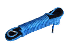 Blue 50 ft 3/16 inch ATV UTV synthetic winch cable rope line