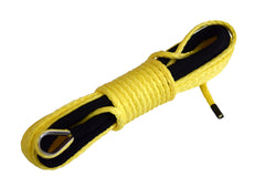 Yellow 50 ft 3/16 inch ATV UTV synthetic winch cable rope line