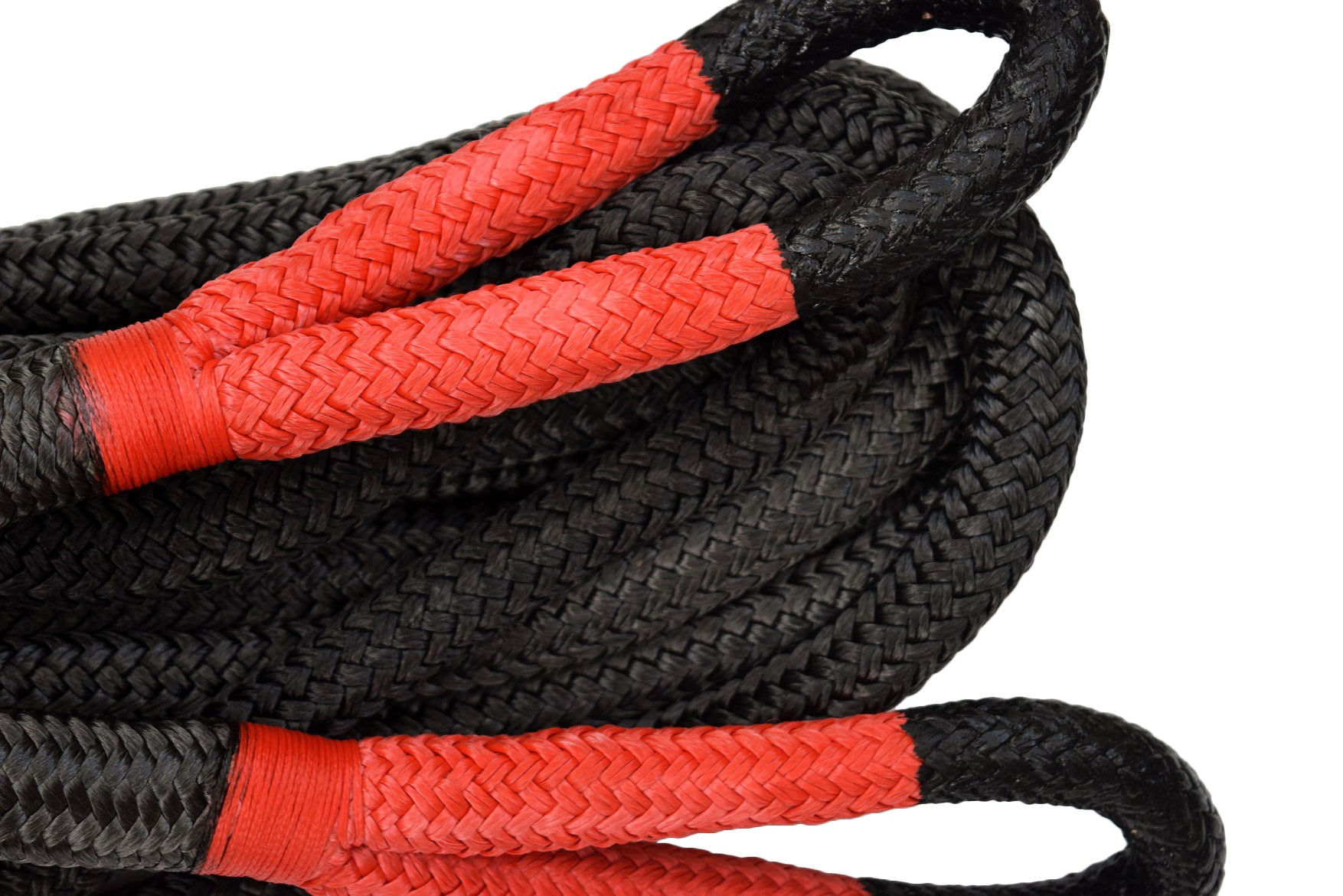 "Black 7/8""×20FT QIQU Kinetic Energy Recovery Rope BS 24000lbs Truck SUV Tow Rope"