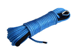 QIQU Blue QIQU 50 ft 1/4 inch (6mm*15m or 1/4''x50') ATV UTV synthetic winch cable rope line