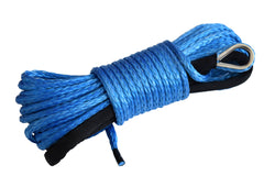 QIQU blue 80 ft 1/4 inch ATV UTV synthetic winch cable rope line