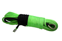 QIQU green 100ft 5/16 inch SUV 4x4 Off-Road Car synthetic winch cable rope line with thimble polyester sleeve and lug