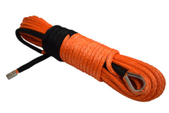 QIQU orange 100ft 5/16 inch SUV 4x4 Off-Road Car synthetic winch cable rope line with thimble polyester sleeve and lug