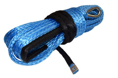 QIQU blue 100 ft 1/2 inch SUV Off-road car synthetic winch cable rope line with thimble and lug