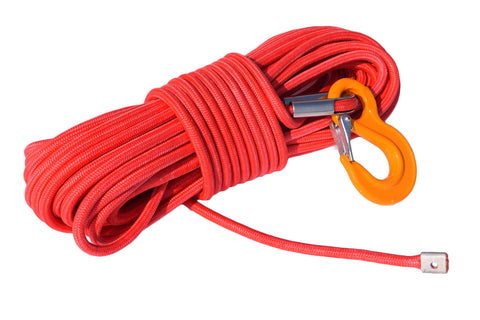 12mm*30m Red UHMWPE core with UHMWPE jacket Synthetic Rope,Winch Cable,Towing Ropes