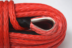 14mm*45m Red Synthetic Winch Rope,Boat Winch Cable Rope for Jeep Pickup Truck
