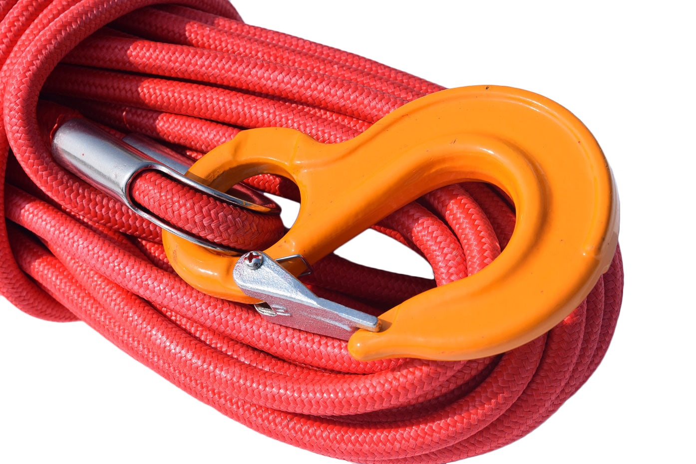 Orange 1//2inch*100ft UHMWPE core with UHMWPE jacket,Synthetic Winch Cable Rope
